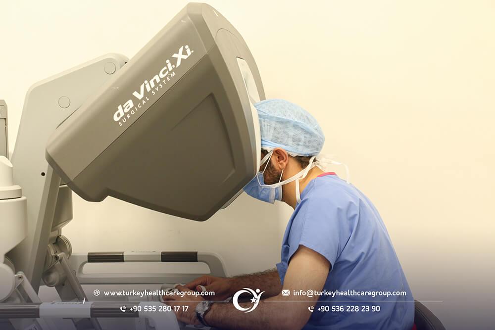 عملية استئصال البروستات بالجراحة الروبوت دافنشي مركز جراحة الروبوتية